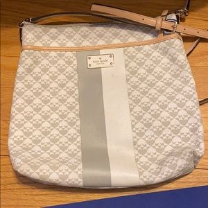 White and grey Kate spade satchel